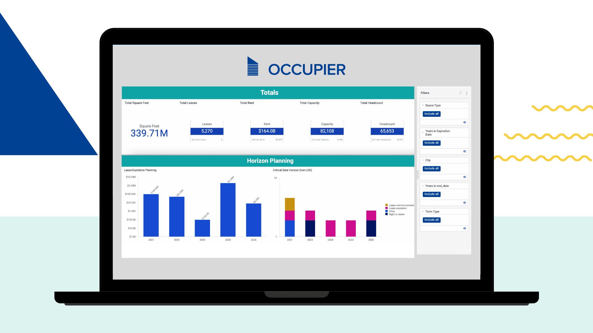 Occupier Analytics Dashboard Header